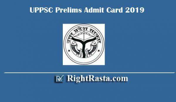 UPPSC Prelims Admit Card 2019