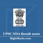 UPSC NDA Result 2020 (Out) | Download National Defence Academy I & II Merit List