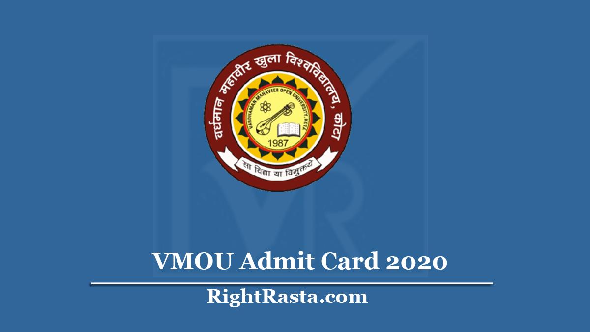VMOU Admit Card 2020