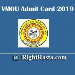 VMOU Admit Card 2020 | Download Vardhman Mahaveer Open University Kota TEE Term End Exam Permission Letter 2020 for December Exam @ vmou.ac.in