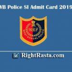 WB Police SI Admit Card 2019