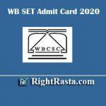 WB SET Admit Card 2020 | Download West Bengal WBCSC SET Exam Hall Ticket @ wbcsconline.in