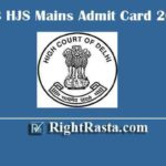 DHC HJS Mains Admit Card 2020 | Download Delhi High Court Higher Judicial Service Main Exam Hall Tickets