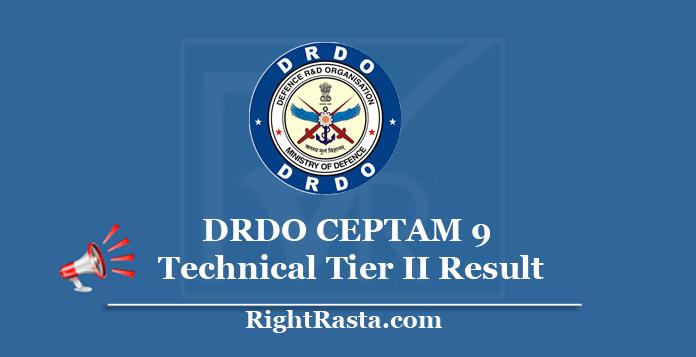 DRDO CEPTAM 9 Technical Result 2020