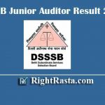 DSSSB Junior Auditor Result 2019 | Download DSSSB Post Code 65/14 Exam Results