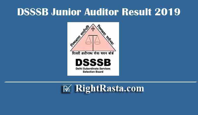 DSSSB Junior Auditor 65/14 Result 2019