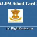HCRAJ JPA Admit Card 2020 | Download Rajasthan High Court RHC Junior Personal Assistant Exam Hall Ticket @ hcraj.nic.in/hcraj