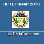 HP TET Result 2019 | Download Himachal Teacher Eligibility Test November Exam Result