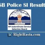 HPSSSB Police SI Result 2019 | Download HP Police Sub Inspector Exam Results