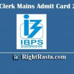IBPS Clerk Mains Admit Card 2020 | Download IBPS CRP IX Main Exam Hall Tickets
