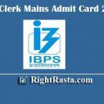 IBPS Clerk Mains Admit Card 2020 | Download IBPS CRP IX Main Exam Hall Tickets