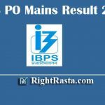 IBPS PO Mains Result With Marks 2019 | Download IBPS CRP PO MT IX Mains Exam Marks