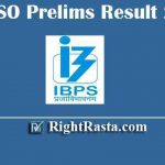 IBPS SO Prelims Result 2019 | Download IBPS SPL IX Specialist Officer Pre Exam Results
