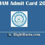 IIT JAM Admit Card 2020 | Download Joint Admission Test 2020 Hall Tickets