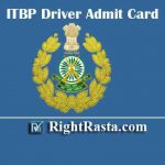 ITBP Driver Admit Card 2020 | Download ITBP Constable CT Driver Hall Ticket & Check Written Exam Date @ recruitment.itbpolice.nic.in