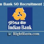 Indian Bank SO Recruitment 2020 | Apply Online Form for Specialist Officers Vacancy