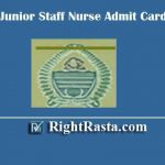 JKSSB Junior Staff Nurse Admit Card 2019 | Download Jammu & Kashmir Selection Board Nurse Hall Ticket 2020