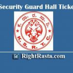 KSRTC Security Guard Hall Ticket 2020 Download Karnataka State RTC Admit Card @ ksrtc.in
