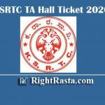 KSRTC TA Hall Ticket 2020 | Download KSRTC Technical Assistant Admit Cards