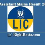 LIC Assistant Mains Result With Marks 2019 | Download Main Exam Score Card