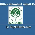 NABARD Office Attendant Admit Card 2020 | Download Group C Prelims Exam Hall Ticket