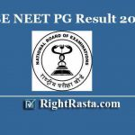 NBE NEET PG Result 2020 | Download NEET PG January Exam Results
