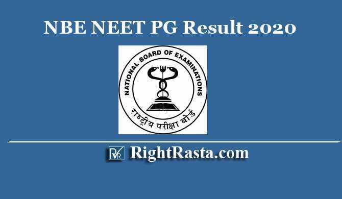 NBE NEET PG Result 2020