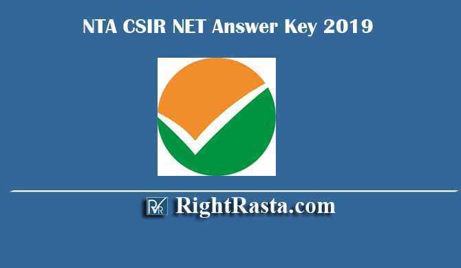 NTA CSIR NET Answer Key 2019