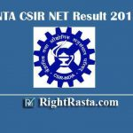 NTA CSIR NET Result 2019 | Download CSIR December Exam Results with Marks