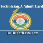 NTRO Technician A Admit Card 2020 | Download National Technical Research Organisation TECH Hall Tickets