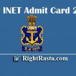 Navy INET Admit Card 2020 | Download Join Indian Navy Entrance Test Hall Tickets