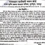 Rajasthan Staff Selection Board Press release