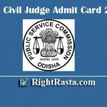 OPSC Civil Judge Admit Card 2019 | Download Odisha PSC Judicial Service Prelims Exam Admission Certificate