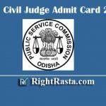 OPSC Civil Judge Admit Card 2019 | Download Odisha PSC Judicial Service Prelims Exam Admission Certificate