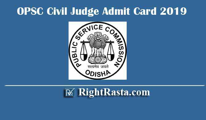OPSC Civil Judge Admit Card 2019