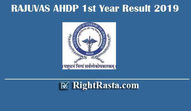 RAJUVAS AHDP 1st Year Result 2019