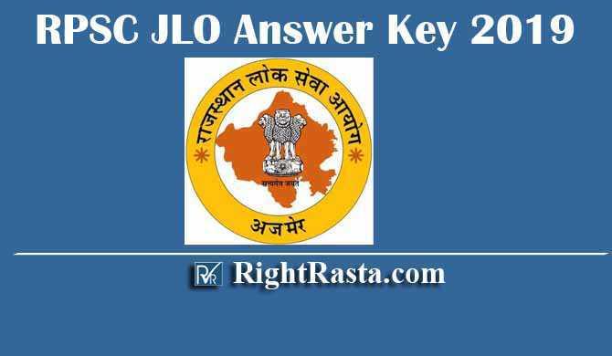 RPSC JLO Junior Legal Officer Answer Key 2019