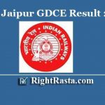 RRC Jaipur GDCE Result 2019 | Download Railway NWR Group C Exam Results @ rrcjaipur.in