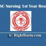 RUHS BSC Nursing Result 2019 | Download B.Sc Nursing 1st Year Exam Results