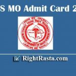 RUHS MO Admit Card 2020 | Download RUHS Medical Officer Exam Call Letters