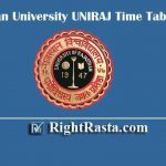 Rajasthan University UNIRAJ Time Table 2020 | Download RU Exam Date Sheet PDF for UG Course