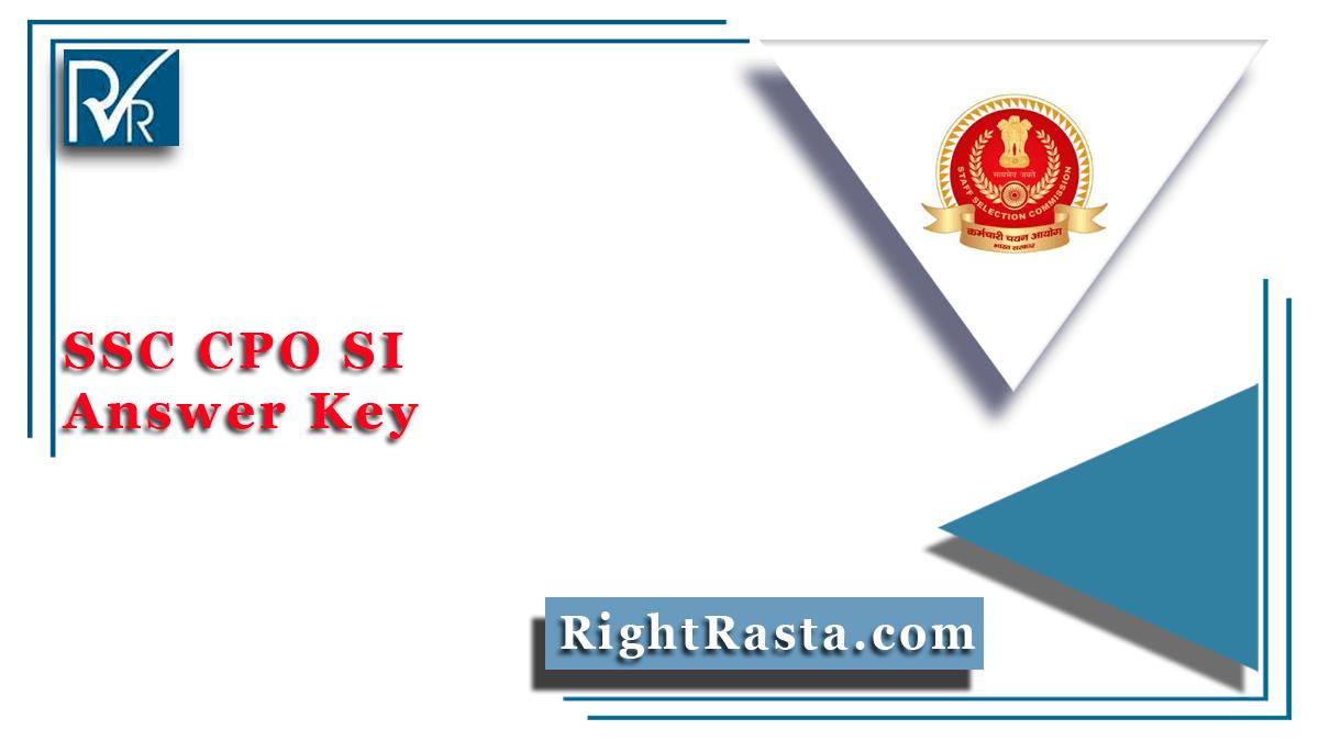 SSC CPO SI Answer Key
