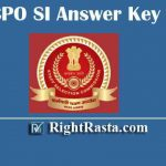 SSC CPO SI Answer Key 2019-2020 | Download SSC Sub Inspector Paper I Exam Key PDF
