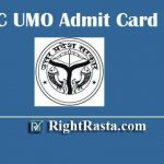 UPPSC UMO Admit Card 2020 | Download UP PSC Unani Medical Officer Hall Ticket & Check Exam Date