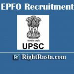 UPSC EPFO Recruitment 2020 | Apply Online Form for Enforcement Officer / Account Officer Vacancy (421 Posts)
