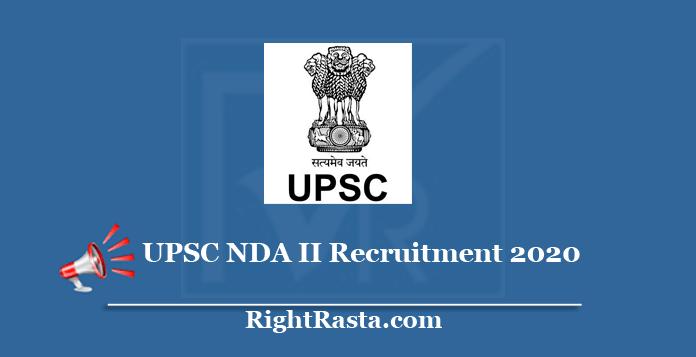 UPSC NDA II Recruitment Online Form 2020