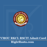 VMOU RKCL RSCIT Admit Card 2020 | Download ITGK RS-CIT Permission Letter