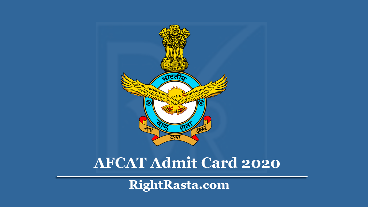 AFCAT Admit Card 2020