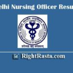 AIIMS Delhi Nursing Officer Result 2020 | Download Staff Nurse Exam Results