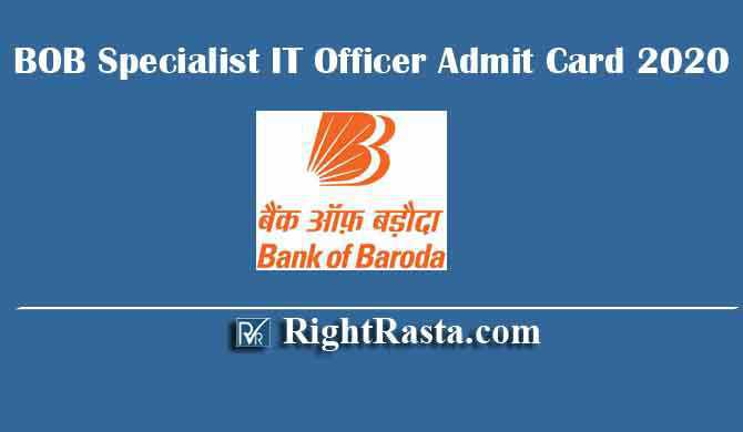 BOB Specialist IT Officer Admit Card 2020